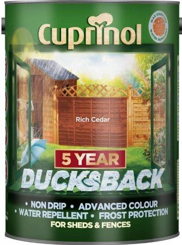 Cuprinol 5 Litre, 5 Year Ducksback Colours Rich Cedar