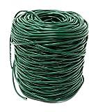 GREEN24 100 Meter Profi Hohlschnur Ø 3mm aus Kunststoff, grün, im praktischen Netz - Elastisches Bindematerial, Bindeschlauch zum Anbinden von Pflanzen