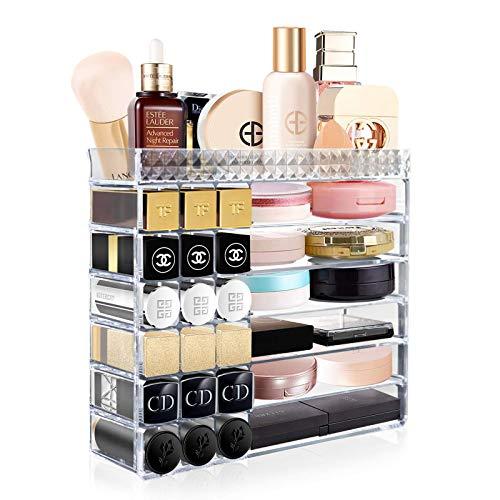 Aerbee Acryl Make Up Organizer, Durchsichtig Lippenstift Schmink Aufbewahrung Halterung Plexiglas Beauty Cosmetic Organiser für Schmuck, Parfum, Nagellack, Makeup Pinsel, Hautpflege Kosmetik