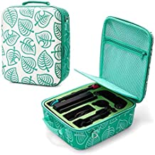 Deluxe Carrying Case for Nintendo Switch - Animal Crossing Bag with Shoulder Strap Fits Complete Switch System Console+Swi...