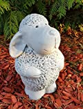 Gartenfigur niedliches Schaf Trudi groß frostfest Handmade Dekofigur für außen Garten Terassen Balkon Gartendeko - 2