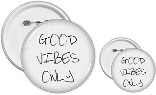 Good Vibes Only Kit de badges avec citation