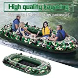 10FT Camouflage 4 Person Boat,3 Layer PVC Inflatable Dinghy Boat/Touring Kayak Canoe Boat Set/Fishing Rafting Water Sports