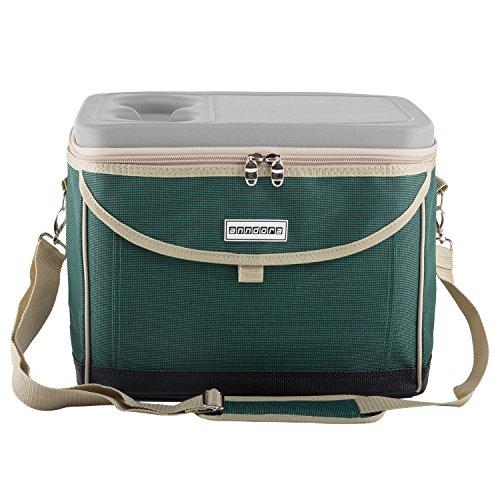 anndora Kühltasche Picknicktasche 22 L Kühlkorb Isotasche Kühlbox Coolbag Grün