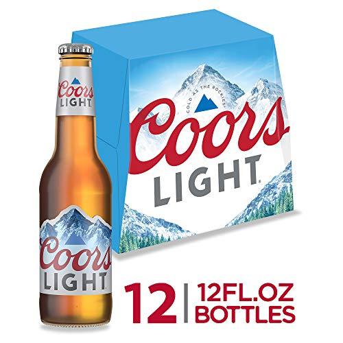 Coors Light Beer, American Light Lager Beer, 12 Pack Beer, 12 FL OZ Bottles, 4.2% ABV