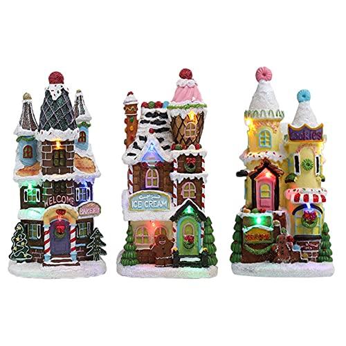 happygirr Decorazione natalizia per la casa di pan di zenzero per il tavolo – Kit di Natale