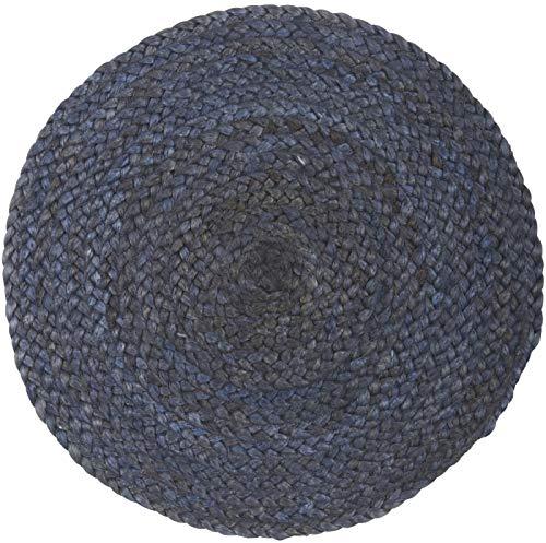 IB Laursen - Tischset - rund - staubigblau - Ø 35 cm - Jute