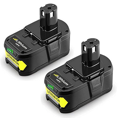Powilling 2Pack 5.0Ah 18V Replacement Battery for Ryobi 18V Lithium Battery P102 P103 P105 P107 P108 P109 Ryobi ONE+ Cordless Tool