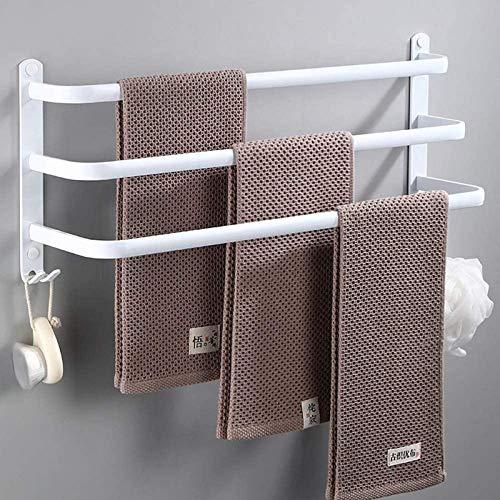 WXDP Warme Hausschuhe,Handtuchhalter Wandhalterung mit Haken Aluminium-Handtuchhalter für Bad und Badewanne Handtuchhalter Einlagig/Zweischichtig/Dreischichtig Platz sparen / Schnelltrocknen4