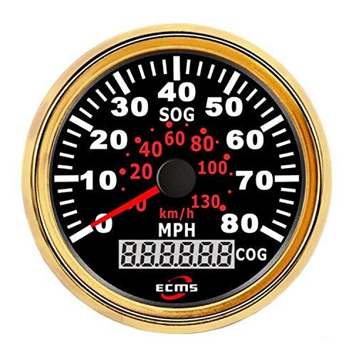 Autometermeter Marine 85mm GPS Tachometer 0-80MPH 120km / h Kilometerzähler Mit GPS Sensor