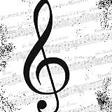 20tovaglioli Note Musicali 33x 33cm