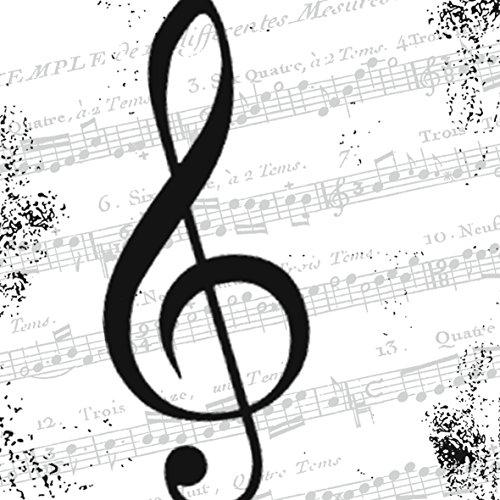 20 Servietten Notenschlüssel Musik Noten 33x33 cm