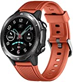 DOOK Fitness Tracker Smart Watch with Blood Pressure Heart Rate Sleep Monitor for Men and Women Touch Screen 12 Sport Modes Waterproof Activity Tracker with Pedometer for Android and iPhone-Orange