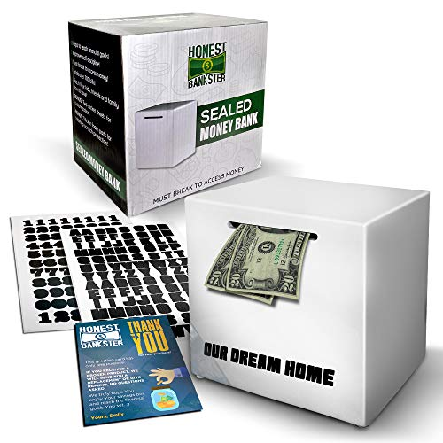 Piggy Bank Break to Open - Must Break to Access Money - Achieve Saving Goals with an Unopenable Piggy Bank - Ceramic Money Savings Box - Piggy Bank for Adults Must Break to Open