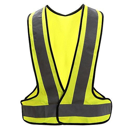 Chalecos de seguridad Alta Visibilidad fluo (XL, Amarillo)