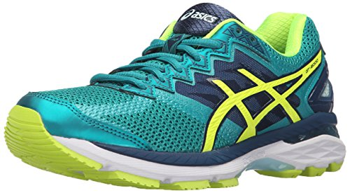 ASICS Tenis de correr GT-2000 4 para mujer, azul (Lapislázul/Amarillo/Soothing Sea (lapis/safety yellow/soothing sea)), 36