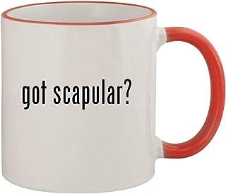 got scapular? - 11oz Ceramic Colored Rim & Handle Coffee Mug, Red