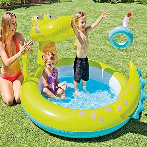 LIJUEZL Kinder-aufblasbare Pool-Wasserrutschen, PVC-Bill-Blaungspolfplatz für Baby über 3 Jahre