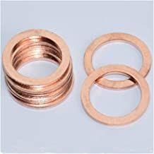 SSHELL 20 Stks/partij 10 * 14 * 1 MM Effen koper Washer Flat Ring Pakking Pomp Plug OlieVoor Boot Crush Washer Flat Seal R...