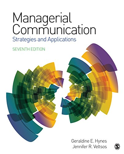 Book's Cover of Managerial  Communication: Strategies and Applications (English Edition) Versión Kindle