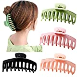 Big Claw Clips 4 Inch Nonslip Hair Clip Banana Large matte rubber for Women and Girls Think Curly...