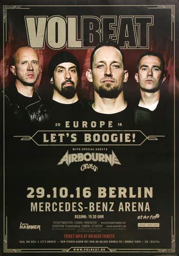Volbeat - Let´s Boogie, Berlin 2016 » Konzertplakat/Premium Poster | Live Konzert Veranstaltung | DIN A1 «