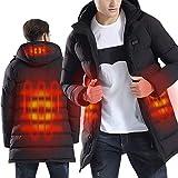 Sidiou Group Giacca Riscaldante Elettrica Abbigliamento Riscaldato USB Regolabile Temperatura Vestiti Riscaldati Giacca Riscaldante Uomo Caldo Leggero Giubbotto Piumino Uomo Invernali (Stile 2-nero,L)