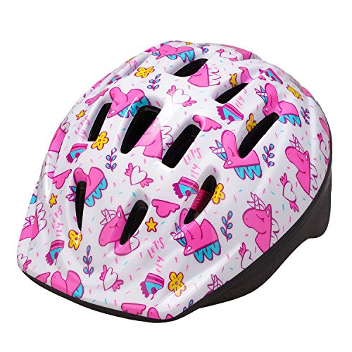 Exclusky Kids Bike Helmet, Lightweight Bicycle Helmets for Children, Adjustable from Toddler to Preschooler, Durable Scooter Helmets with Unicorn Design for Boys and Girls Age 3-7, CPSC Certified