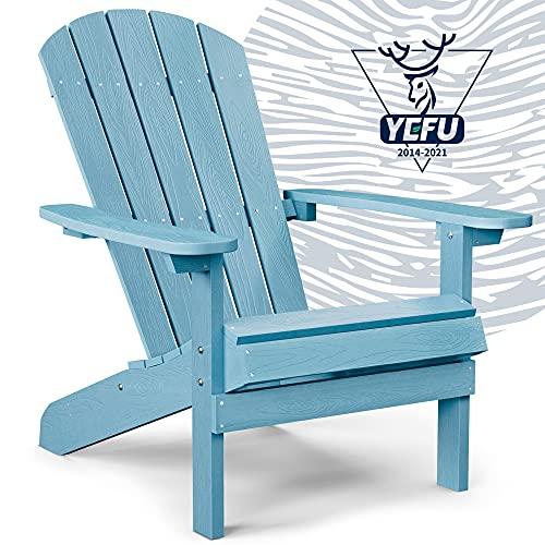 YEFU Adirondack Chair Plastic Weather Resistant, Patio...