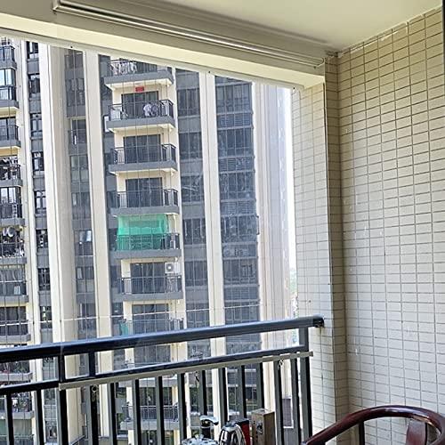 WXQIANG Persianas enrollables aisladas para balcón de ventana, persianas de seguridad de PVC multifunción, 60 cm/80 cm/100 cm/120 cm/140 cm de ancho decoración interior, decoración del hogar y
