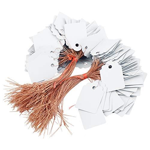 La plante accrochante de PVC étiquette 200pcs / ensemble les marqueurs de label d'arbre nominatifs graine fleur imperméable signe jardin de pépinière extérieur 3.5 * 2.5cm(blanc)