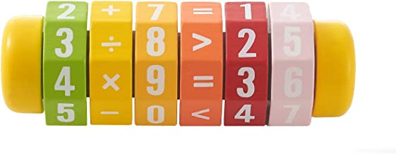 RUYU Wooden Fruit Rotating Cylinder Block Mathematics Numbers and Symbols Kindergarten Educational Math Learning Toys and Game for Kids -Math Operation Toy(❤Lemon❤)