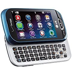 top 10 lg phone slide LG Extravert 2 VN280 (Verizon) – Blue