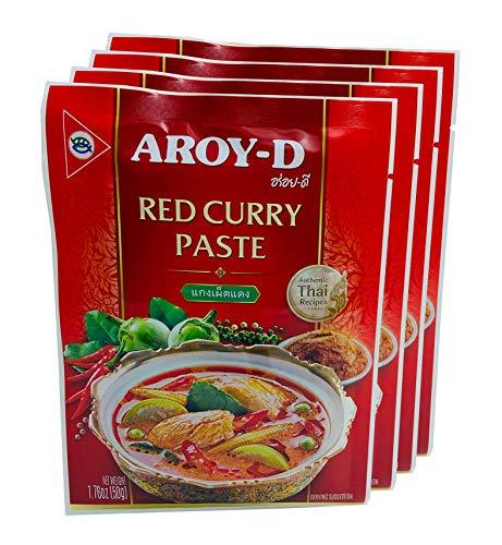Aroy-D Pasta de Curry Roja 4x50g