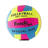 fondosub 49908 Balón Pelota Volley Ball Playa Foam 22 cm Medida Oficial, Multicolor