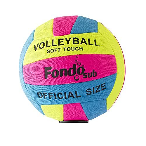 fondosub 49908 Pallone Pallone Volley Ball Spiaggia Foam 22 cm Misura Ufficiale, Multicolore