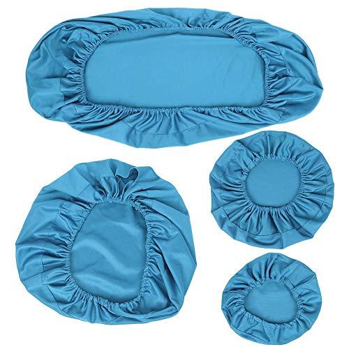 Funda para silla dental, cojín para reposacabezas dental repetible, tela elástica lavable conveniente a prueba de polvo M, L juego(Light blue, large)