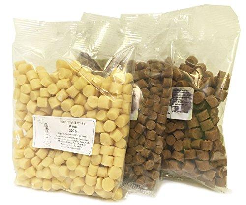 Hitzegrad Kartoffel Softies 200g Glutenfreies Trainingsleckerli für Hunde - Strauß