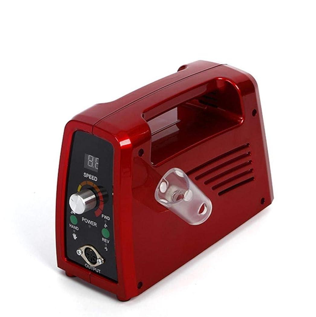 祭司本質的に矛盾電気35000 rpmネイルドリルプロフェッショナルネイルファイル用アクリルネイル彫刻マニキュアペディキュアマシンニスネイルポリッシャードリルビット液晶ディスプレイ