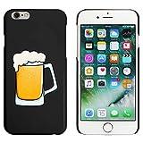 Azeeda Schwarz 'Glas Bier' Hülle für iPhone 6 u. 6s (MC00185719)