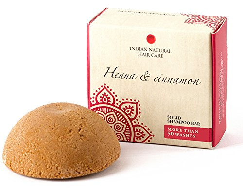 Solid shampoo bar - Henna & cinnamon - For normal-fine hair - Indian Natural Hair Care - 2.12 oz