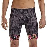 Zoot LTD Men's 9-Inch Tri Shorts – Performance Triathlon Shorts with SBR Integra Tri Chamois and Hip Holster Pockets (Aloha Always, Large)