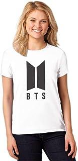 Camiseta Feminina T-Shirt Kpop BTS Bangtan Boys Baby Look ES_092
