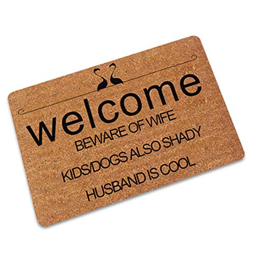KKSB Felpudo Bienvenido Felpudo Personalizado para Entrada Puerta Principal Alfombrillas de Piso Pasillo al Aire Libre Baño Cocina Área de Alfombra Alfombra Tapis Cuisine 45x75cm D