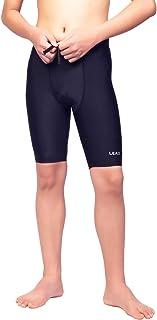 شلوار شنا LEAO Youth Boys Swims Jammers Solid Swimsuit UPF 50 Sun Protection Quick Dry Athletic Swimming Shorts
