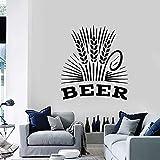 Calcomanía De Pared Alcohol Beber Pub Cerveza Bar Cervecería Espuma De Vinilo Ventana Molino De Trigo Decoración De Interiores Pegatinas Para Sala De Estar Mural 74X82Cm