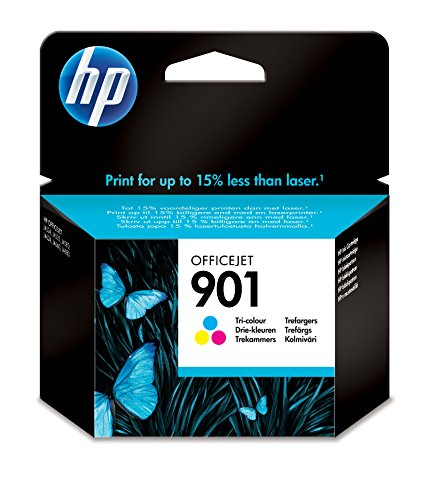 HP 901 Tri-color Officejet Ink Cartridge Cyan,Magenta,Yellow ink cartridge - ink cartridges (Cyan, Magenta, Yellow, HP Officejet J4580, HP Officejet J4640, HP Officejet J4680, Standard, Inkjet, 20 - 80%, -40 - 60 °C)