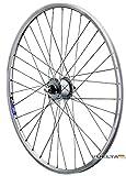 Vuelta 28 Zoll Fahrrad Laufrad Vorderrad Hohlkammerfelge Cut 19 Shimano Nabendynamo DHC30003 Vollachse Silber für V-Brakes/Felgenbremse