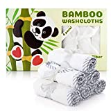 Organic Baby Washcloths – 100% Bamboo Baby Towels Set of 6 – Safe,Ultra Soft, and Absorbent Baby Bath Towel Pack – Perfect Baby Shower Gift for Baby Boy or Girl By San Francisco Baby