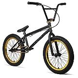 "Elite 20"" BMX Bicycle Destro Model Freestyle Bike New 2018 (Matte Black/Gold)"
